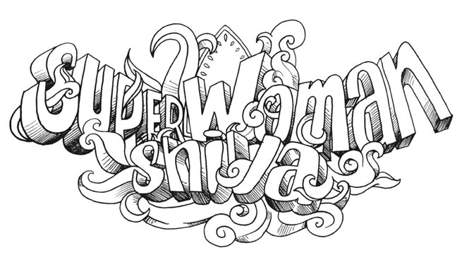 super woman shiva logo